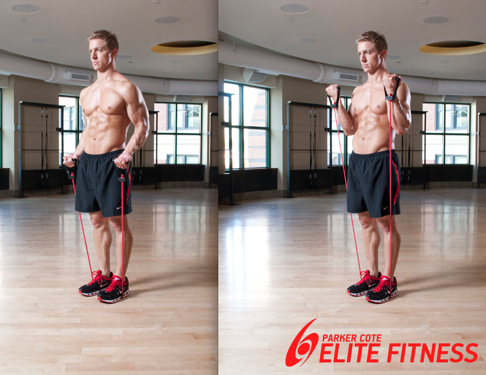 dual standing curl www.ParkerCoteFitness.com